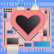 Royalty-Free Stock Vector Image: Computer_heart