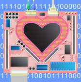 Computer_heart — Wektor stockowy