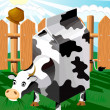 Stock Vector: Cow package