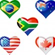 Royalty-Free Stock Vector Image: Flags heart