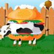 Cowburger! — Stock Vector