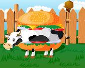 Cowburger! — Stock Vector