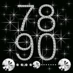 Diamond letters with gemstones 06 — Stock Vector