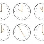 Sketch clock — Stock Photo