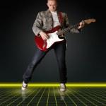 gitar ile punk adam — Stok fotoğraf