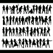 Vector de stock : Dancing and singing new set
