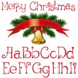 Christmas alphabet - Imagen vectorial