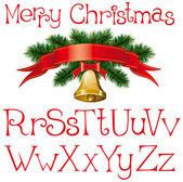 Weihnachten alphabet — Stockvektor
