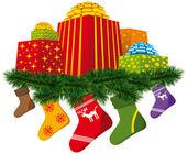 De giften van kerstmis — Stockvector