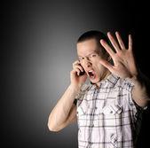Křičící muž — Stock fotografie