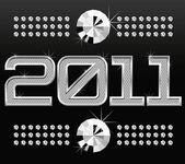 Numéros de losange metall 2011 — Vecteur