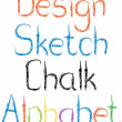 Chalk letters — Stockvectorbeeld
