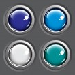 Colored buttons on gray background — 图库矢量图片