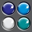 Colored buttons on gray background — Stock Vector #4345692