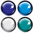 Stock Vector: Colored buttons on gray background