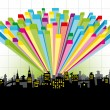 Diagram city - Stock Vector
