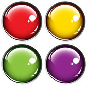Colored buttons on gray background — Vector de stock