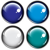 Colored buttons on gray background — Stock Vector