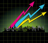 Diagram city — Stock Vector