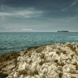 Adriatic sea's uninhabited island — Stock Photo