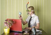 Trabalhador de escritório quer nadar — Foto Stock
