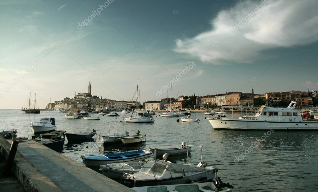 Adriatic sea's uninhabited island with beautiful sky  Stock Photo #4674326