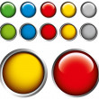 Colored buttons on gray background — Stock Vector #4674307