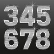 Metall diamond letters and numbers big and small — Vector de stock #4674441