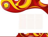 Abstracte sjabloon achtergrond met blauwe knop — Stockvector