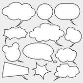 Vector set of comics style speech bubbles — Stock Vector