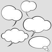 Vector set of comics style speech bubbles — Vettoriale Stock