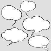 漫画のスタイルのスピーチの泡のベクトルを設定 — ストックベクタ