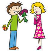 Couple on valentine day — Stock Vector