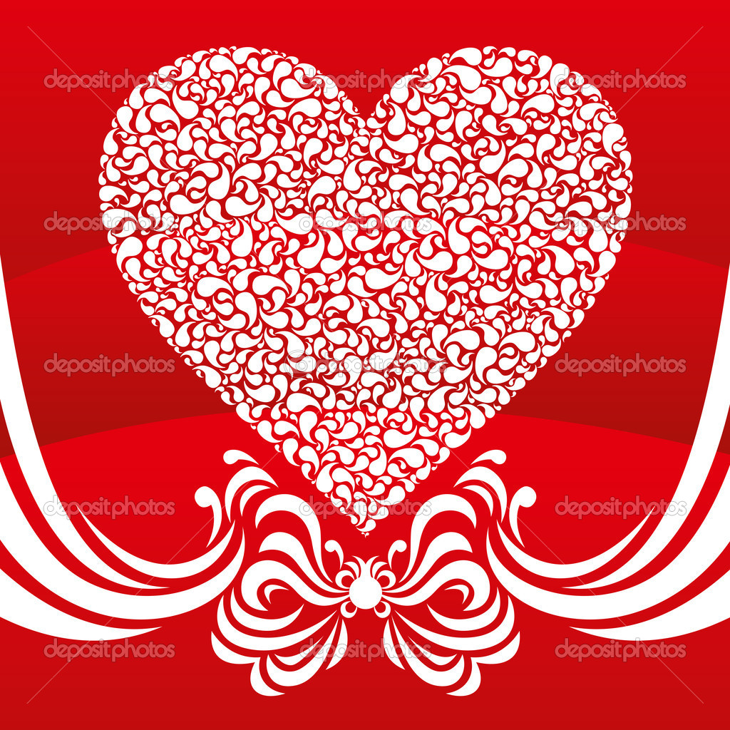 Vector abstract heart card for valentines day  Stock Vector #4805333
