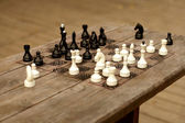 Hand-made chessboard — Stock Photo