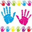 Color hand print - Imagen vectorial