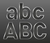 металлические буквы большие и малые — Cтоковый вектор