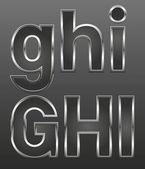 大和小的金属字母 — 图库矢量图片