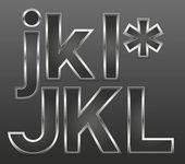 Metalowe litery duże i małe — Wektor stockowy