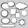 Stock Vector: Vector set of comics style speech bubbles