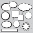 Vector set of comics style speech bubbles - Stock Vector