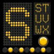 Stock vektor: Yellow button letters
