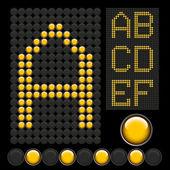 Lettres de bouton jaune — Vecteur