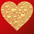 Stockvector : Happy valentine background with decorative hearts