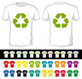 Leere shorts einer anderen farbe mit recyclingsymbol — Stockvektor