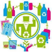 リサイクルの概念 — ストックベクタ