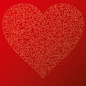 Happy valentine background with decorative hearts — Vector de stock