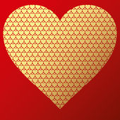 Happy valentine background with decorative hearts — 图库矢量图片