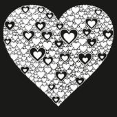 Happy valentine background with decorative hearts — Cтоковый вектор