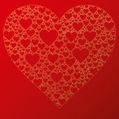 Happy valentine background with decorative hearts — Vecteur